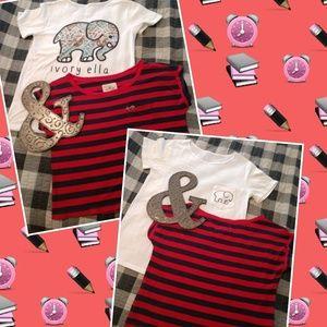 2 cool T Shirts S-XS striped & ivory ella